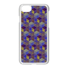 Hexagon Cube Bee Cell Purple Pattern Apple Iphone 8 Seamless Case (white) by Cveti