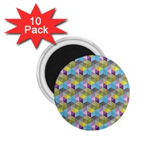 Hexagon Cube Bee Cell 1 Pattern 1 75  Magnets (10 Pack)  by Cveti