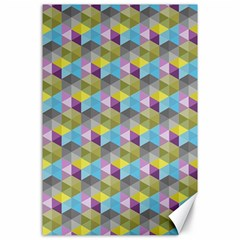 Hexagon Cube Bee Cell 1 Pattern Canvas 24  X 36  by Cveti