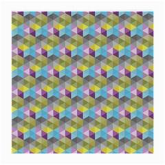 Hexagon Cube Bee Cell 1 Pattern Medium Glasses Cloth (2 Side) by Cveti