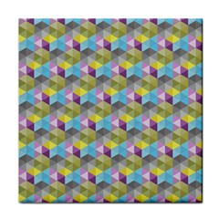 Hexagon Cube Bee Cell 1 Pattern Face Towel by Cveti