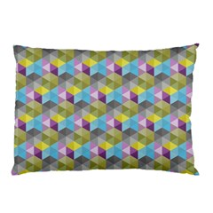 Hexagon Cube Bee Cell 1 Pattern Pillow Case by Cveti