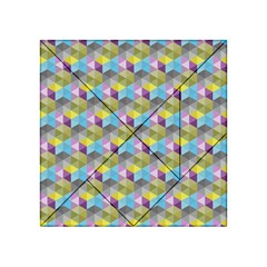 Hexagon Cube Bee Cell 1 Pattern Acrylic Tangram Puzzle (4  X 4 ) by Cveti
