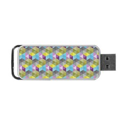 Hexagon Cube Bee Cell 1 Pattern Portable Usb Flash (two Sides) by Cveti