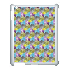 Hexagon Cube Bee Cell 1 Pattern Apple Ipad 3/4 Case (white) by Cveti