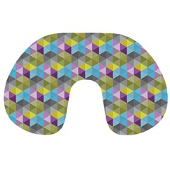 Hexagon Cube Bee Cell 1 Pattern Travel Neck Pillows by Cveti