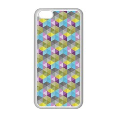 Hexagon Cube Bee Cell 1 Pattern Apple Iphone 5c Seamless Case (white) by Cveti