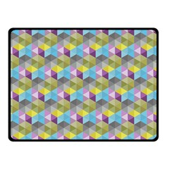 Hexagon Cube Bee Cell 1 Pattern Double Sided Fleece Blanket (small)  by Cveti