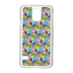 Hexagon Cube Bee Cell 1 Pattern Samsung Galaxy S5 Case (white) by Cveti
