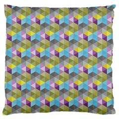Hexagon Cube Bee Cell 1 Pattern Large Flano Cushion Case (two Sides) by Cveti