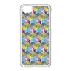 Hexagon Cube Bee Cell 1 Pattern Apple Iphone 8 Seamless Case (white) by Cveti