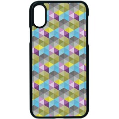 Hexagon Cube Bee Cell 1 Pattern Apple Iphone X Seamless Case (black)