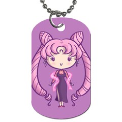 Cutie Black Lady/chibimoon Dog Tag (two Sided)  by Ellador