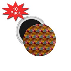 Hexagon Cube Bee Cell 2 Pattern 1 75  Magnets (10 Pack)  by Cveti