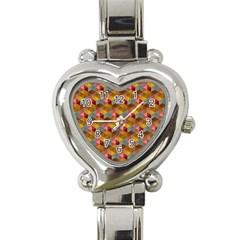 Hexagon Cube Bee Cell 2 Pattern Heart Italian Charm Watch by Cveti