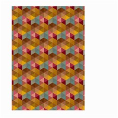 Hexagon Cube Bee Cell 2 Pattern Large Garden Flag (two Sides) by Cveti