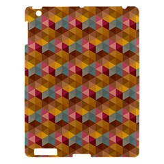 Hexagon Cube Bee Cell 2 Pattern Apple Ipad 3/4 Hardshell Case by Cveti