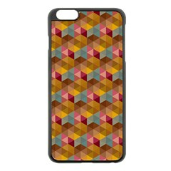 Hexagon Cube Bee Cell 2 Pattern Apple Iphone 6 Plus/6s Plus Black Enamel Case by Cveti