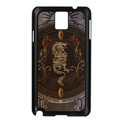Golden Chinese Dragon On Vintage Background Samsung Galaxy Note 3 N9005 Case (black) by FantasyWorld7