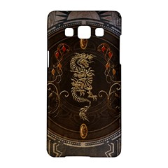 Golden Chinese Dragon On Vintage Background Samsung Galaxy A5 Hardshell Case  by FantasyWorld7