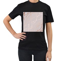 Rose Gold, Wave,beautiful,feminine,chic,elegant,metallic,modren,wedding,pink,trendy Women s T Shirt (black) (two Sided) by 8fugoso
