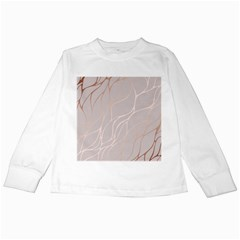 Rose Gold, Wave,beautiful,feminine,chic,elegant,metallic,modren,wedding,pink,trendy Kids Long Sleeve T Shirts by 8fugoso