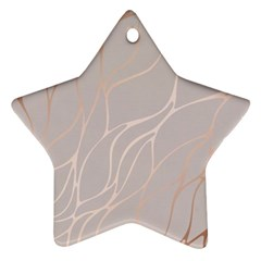 Rose Gold, Wave,beautiful,feminine,chic,elegant,metallic,modren,wedding,pink,trendy Star Ornament (two Sides)