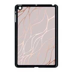 Rose Gold, Wave,beautiful,feminine,chic,elegant,metallic,modren,wedding,pink,trendy Apple Ipad Mini Case (black) by 8fugoso