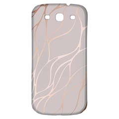 Rose Gold, Wave,beautiful,feminine,chic,elegant,metallic,modren,wedding,pink,trendy Samsung Galaxy S3 S Iii Classic Hardshell Back Case by 8fugoso
