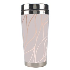 Rose Gold, Wave,beautiful,feminine,chic,elegant,metallic,modren,wedding,pink,trendy Stainless Steel Travel Tumblers by 8fugoso