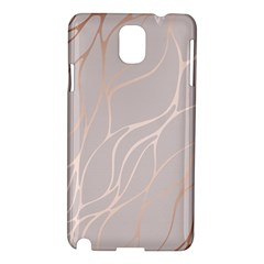 Rose Gold, Wave,beautiful,feminine,chic,elegant,metallic,modren,wedding,pink,trendy Samsung Galaxy Note 3 N9005 Hardshell Case by 8fugoso
