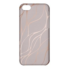 Rose Gold, Wave,beautiful,feminine,chic,elegant,metallic,modren,wedding,pink,trendy Apple Iphone 5c Hardshell Case