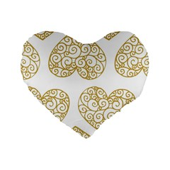 All Cards 36 Standard 16  Premium Flano Heart Shape Cushions by SimpleBeeTree