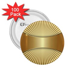 Gold8 2 25  Buttons (100 Pack)  by 8fugoso