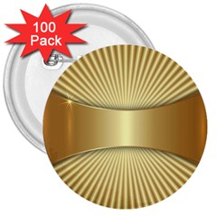 Gold8 3  Buttons (100 Pack)  by 8fugoso