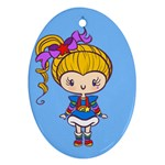 Rainbow CutiE Oval Ornament