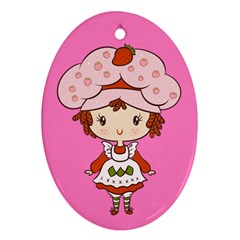 Berry Girl Cutie Oval Ornament by Ellador