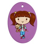 Punky CutiE Oval Ornament