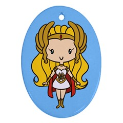 Princess Of Power Cutie Oval Ornament