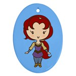 Princess on a Quest CutiE Oval Ornament