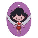 Fairy Girl CutiE Oval Ornament