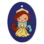 Russian Princess CutiE Oval Ornament