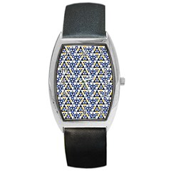 Snowflake With Crystal Shapes Barrel Style Metal Watch by Cveti