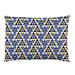 Snowflake With Crystal Shapes Pillow Case (two Sides) by Cveti