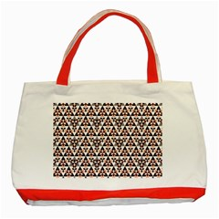 Snowflake With Crystal Shapes 2 Classic Tote Bag (red)