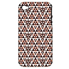 Snowflake With Crystal Shapes 2 Apple Iphone 4/4s Hardshell Case (pc+silicone) by Cveti