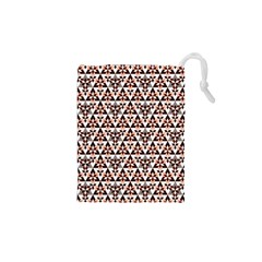 Snowflake With Crystal Shapes 2 Drawstring Pouches (xs)  by Cveti