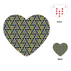 Snowflake Crystal Shapes 3 Playing Cards (heart)  by Cveti