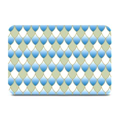 Squama Fish Blue Pattern Plate Mats by Cveti
