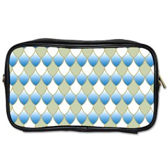Squama Fish Blue Pattern Toiletries Bags 2 Side by Cveti